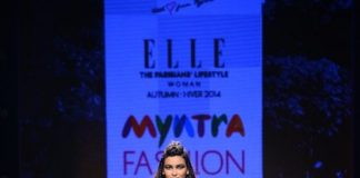 Myntra Fashion Weekend 2014 Photos – Diana Penty glides down the ramp for Elle