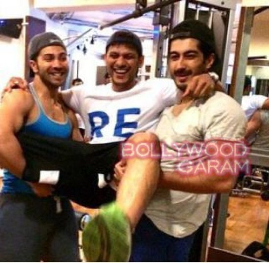 Fun at the gym Varun Dhawan and Mohit Marwah-2