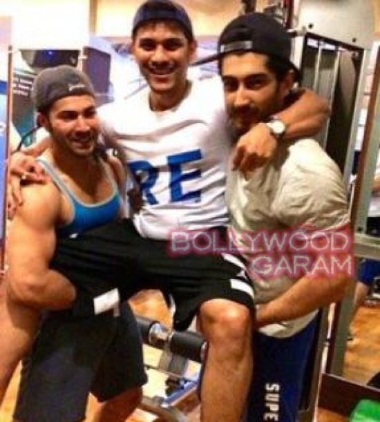 Fun at the gym Varun Dhawan and Mohit Marwah