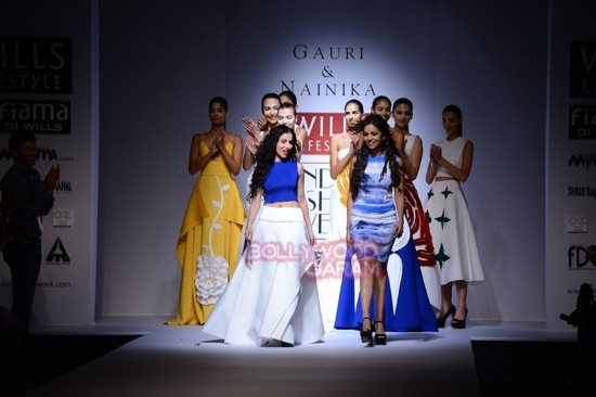 Gauri and Nainika Wills lifestyle Fashion Week 2015-20