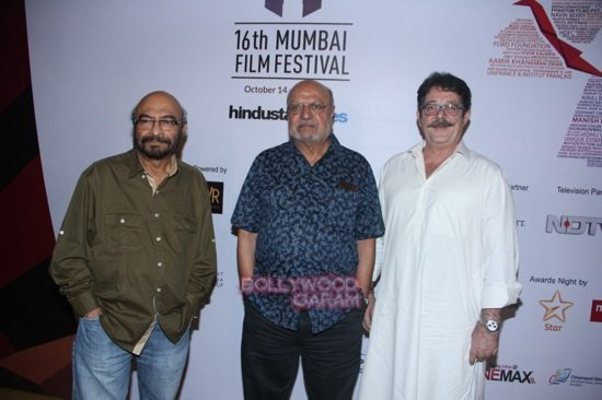 Govind Nihalani, Shyam Benegal and Kunal Kapoor at Day 7 of 16th Mumbai Film Festival (MAMI)-1
