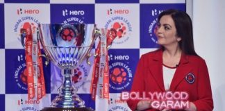 Nita Ambani unveils Hero Indian Super League trophy