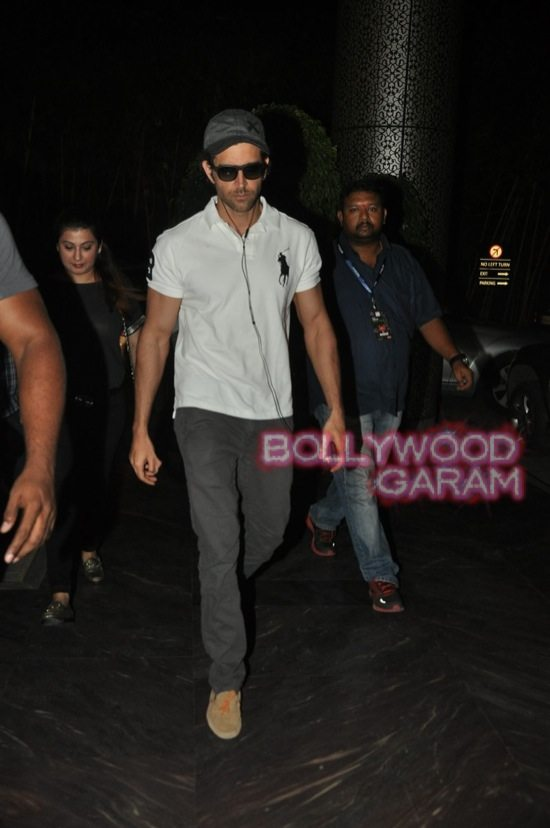 Hrithik Roshan photographed at hotel