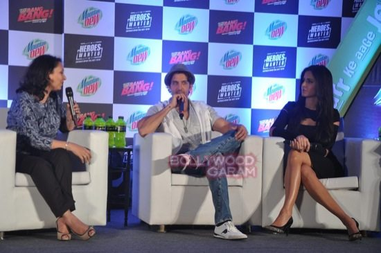 Hritik and Katrina at bang bang mountain dew event-10
