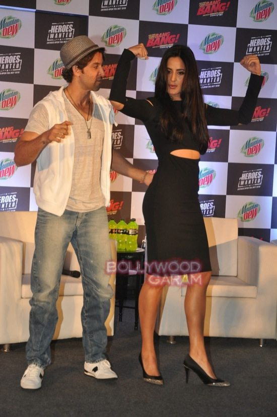 Hritik and Katrina at bang bang mountain dew event-16