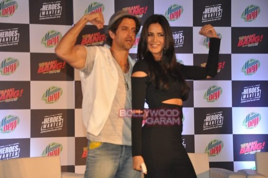 Hritik and Katrina at bang bang mountain dew event-17