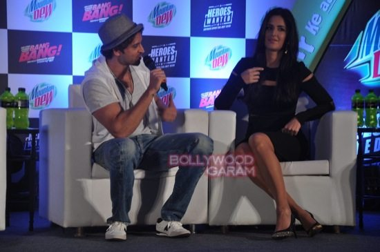 Hritik and Katrina at bang bang mountain dew event-6