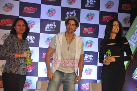 Hritik roshan and Katrina kaif at bang bang mountain dew event-1