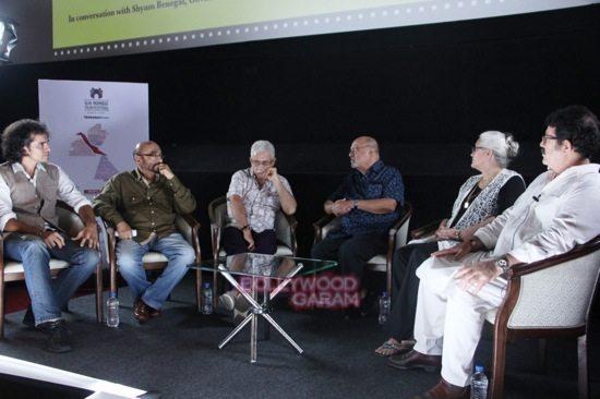 Imtiaz Ali, Govind Nihalani, Nasiruddin Shah, Shyam Benegal, Nafisa Ali and Kunal Kapoor presenting FC Director choice movie 'Junoon' at Day 7 of 16th Mumbai Film Festival (MAMI)-1