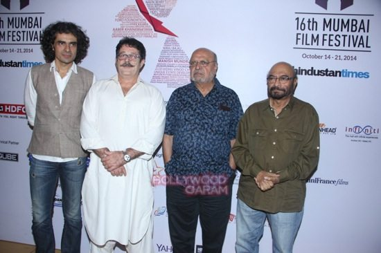 Imtiaz Ali, Kunal Kapoor, Shyam Benegal and Govind Nihalani at Day 7 of 16th Mumbai Film Festival (MAMI)-1