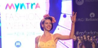 Myntra Fashion Weekend 2014 – Photos – Kalki Koechlin and Cyrus Broacha walk for the Kalki Show