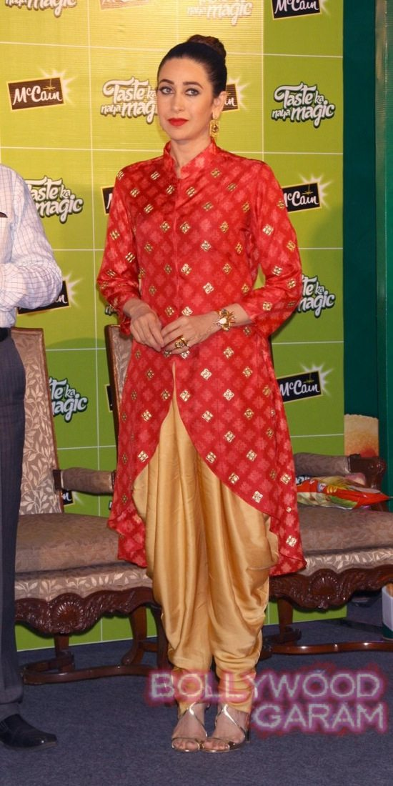 New Delhi: Actress Karishma Kapoor during a function organised by McCain Foods, in New Delhi on Oct. 27, 2014. (Photo: Amlan Paliwal/IANS)