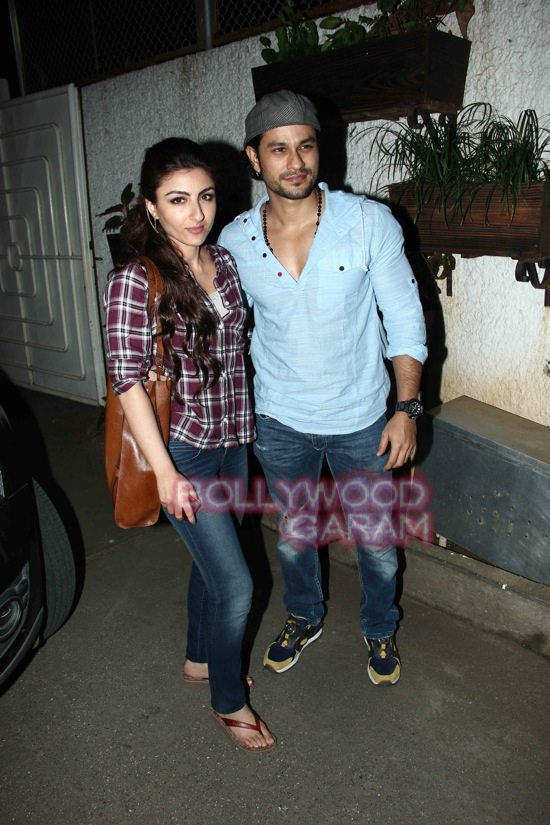 Kunal Khemmu and Soha Ali Khan-2 'Gone girl' special screening