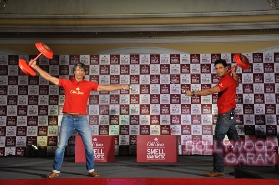 Old Spice Event Milind and Randeep-9