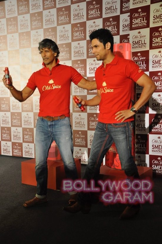 Old Spice Event Milind and Randeep