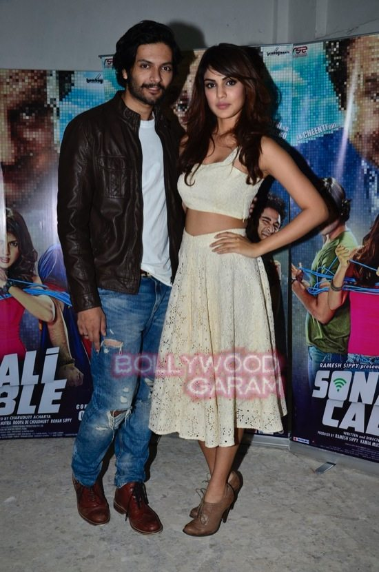 Rhea chakraborthy and Ali Fazal promote Sonali Cable-1