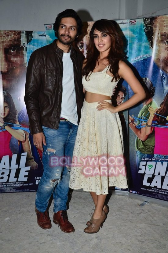 Rhea and Ali Fazal promote Sonali Cable