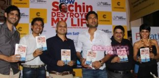 Yuvraj Singh and Mandira Bedi at Vikram Sathaye's book launch