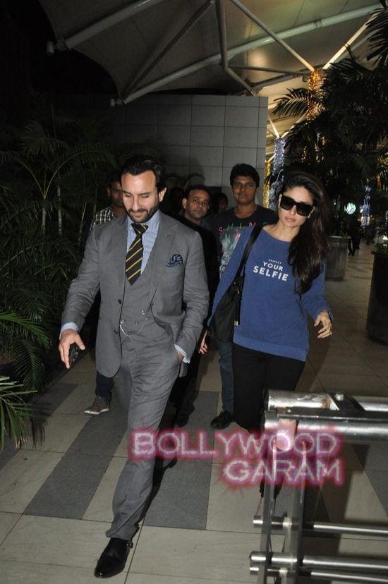 Saif ali khan and Kareena kapoor at airport-1