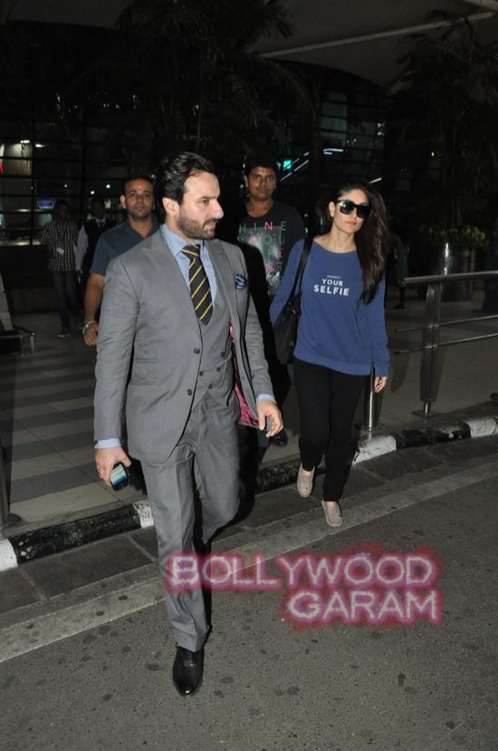 Saif ali khan and Kareena kapoor at airport-2