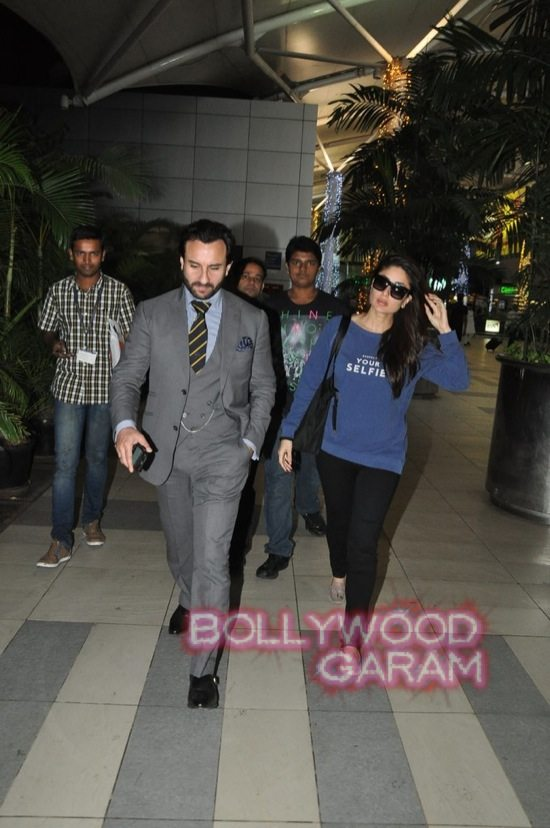 Saif ali khan and Kareena kapoor at airport