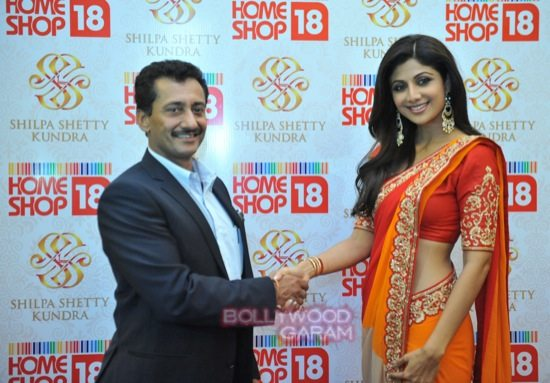 Shilpa launches Shilpa SHetty Kundra line of saris