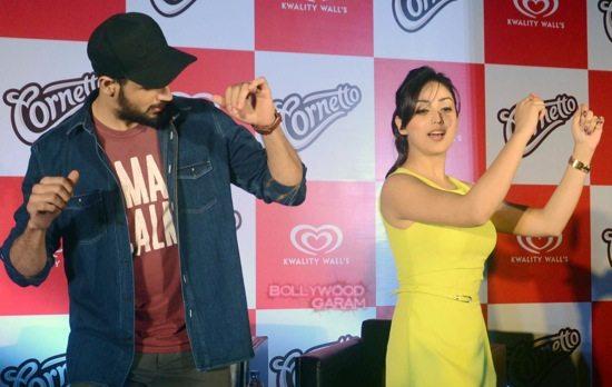 Sidharth Malhotra and Yami gautam at Cornetto event-0