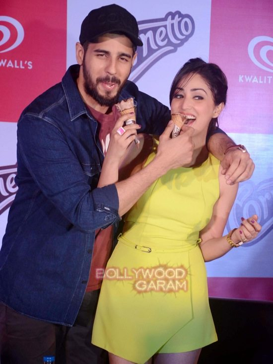 Sidharth and Yami at Cornetto event-2