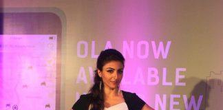 Soha Ali Khan launches Ola Cabs mobile application