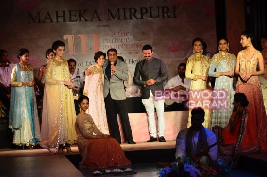Vivek and Parvathy walk the ramp for a cause-5