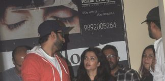 Aishwarya Rai and Abhishek Bachchan have a movie night out