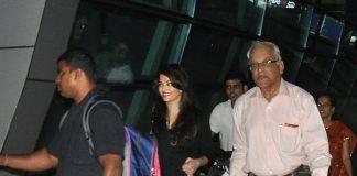 Aishwarya Rai and Hema Malini at Mumbai airport