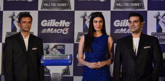 Kriti Sanon, Rahul Dravid and Arbaaz Khan at Gillette event
