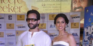 Saif Ali Khan and Ileana D'Cruz promote Happy Ending at book store