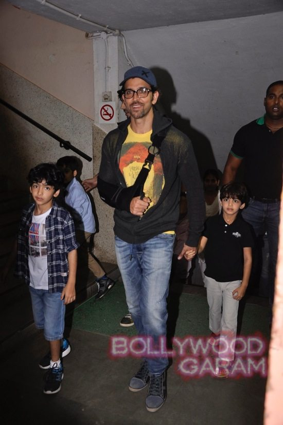 Hrithik Roshan and his two sons