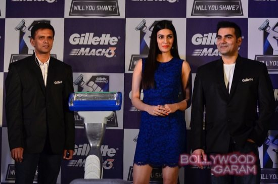 Kriti Sanon-Arbaaz-Khan-Rahul-Dravid-Gillette-4