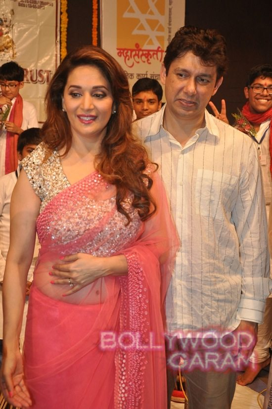 Madhuri and husband attend children performance-10