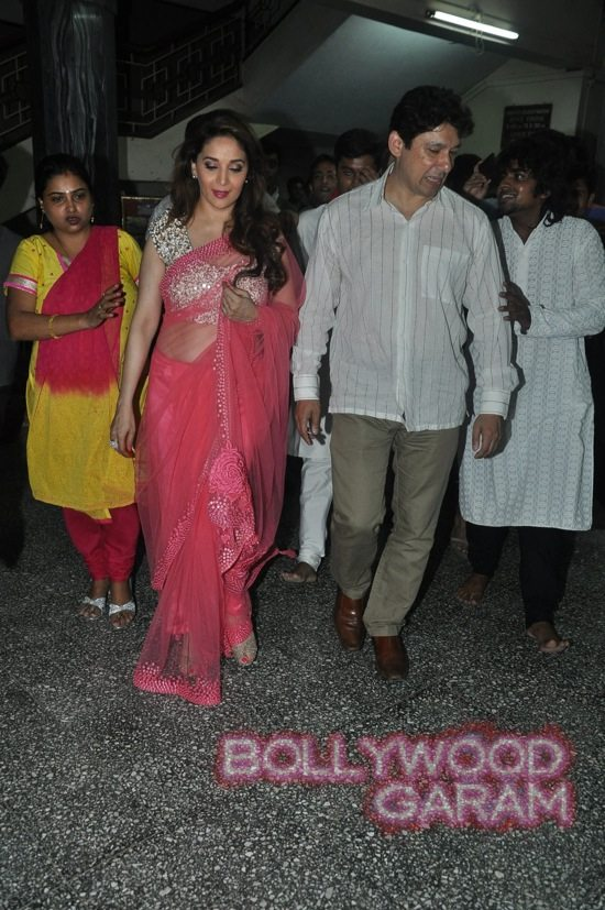Madhuri and husband attend children performance-11