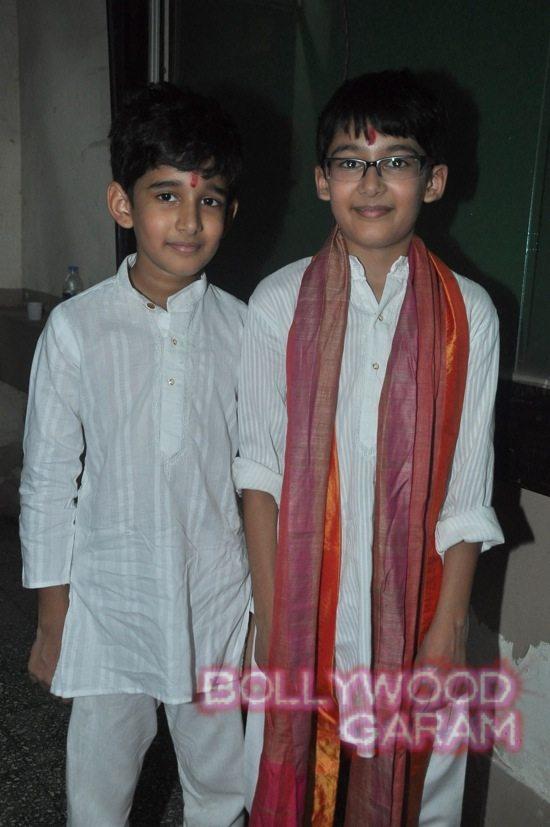 Madhuri and husband attend children performance-12