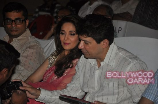 Madhuri and husband attend children performance