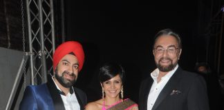 Kabir Bedi and Mandira Bedi at ACETECH 2014 gala night
