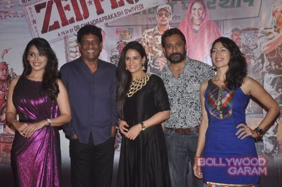 Mona Singh and Hrishita Bhatt at Zed Plus trailer event-15