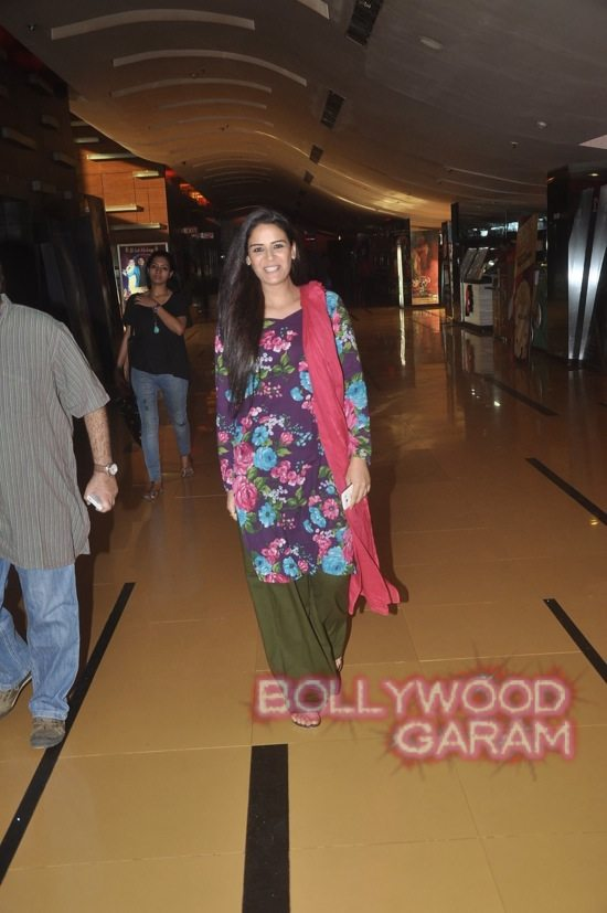 Mona Singh and Hrishita Bhatt at Zed Plus trailer event