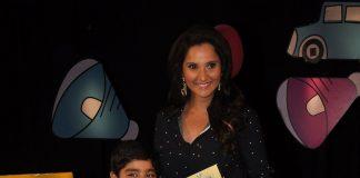 Sania Mirza interacts with Sadhil Kapoor on Captain Tiao sets