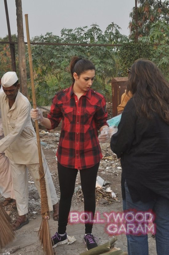 Tamannah takes part in swacch bharat campaign-3