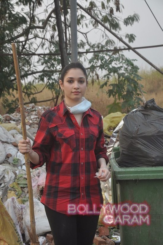 Tamannah takes part in swacch bharat campaign-4