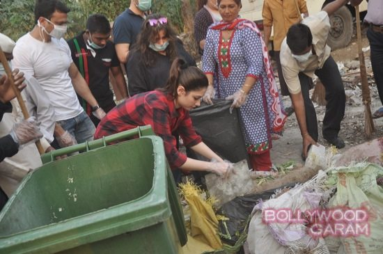 Tamannah takes part in swacch bharat campaign-5