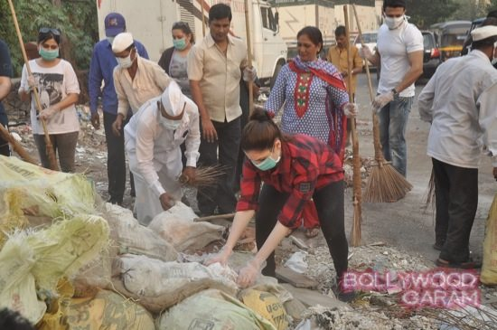 Tamannah takes part in swacch bharat campaign-6
