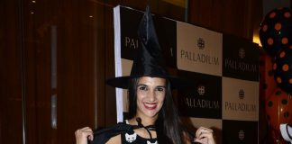 Tara Sharma and Madhoo at Palladium Halloween bash