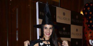 Tara Sharma and Madhoo at Palladium Halloween bash